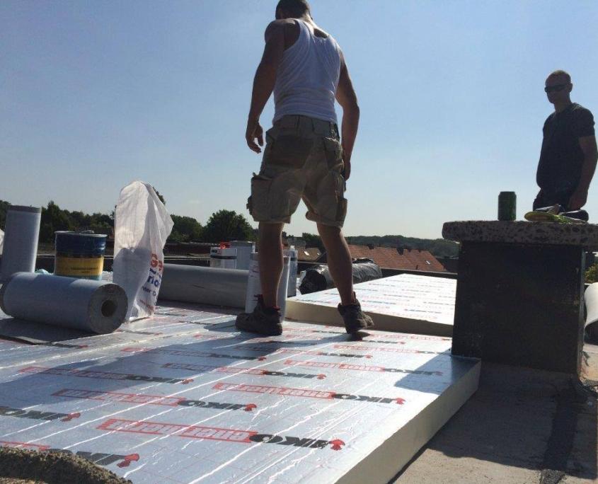 a dakwerken pir isolatie werf .